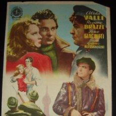 Cine: LOS QUE VIVIMOS Y ADIOS KIRA! ALIDA VALLI,ROSSANO BRAZZI.GRAN CINEMA ,OVIEDO 1950. Lote 55046802