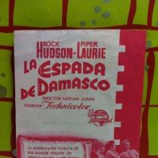Cine: LA ESPADA DE DAMASCO. SENCILLO GRANDE DE UNIVERSAL INTERNACIONAL.. Lote 55057272
