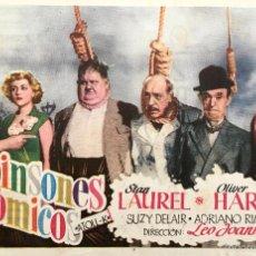 Cine: ROBINSONES ATOMICOS- STAN LAUREL-OLIVER HARDY-ADRIANO RIMOLDI- CON PUBLICIDAD. Lote 55124354