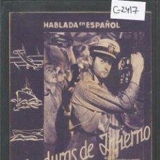 Cine: HONDURAS DE INFIERNO - TARJETA CARTON - CINE NOU - VER REVERSO -(C-2417). Lote 55240464