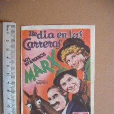Cine: UN DIA EN LAS CARRERAS- LOS HERMANOS MARX-. Lote 55329243