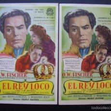 Cine: EL REY LOCO, O.W.FISCHER, VARIANTE. Lote 55332158