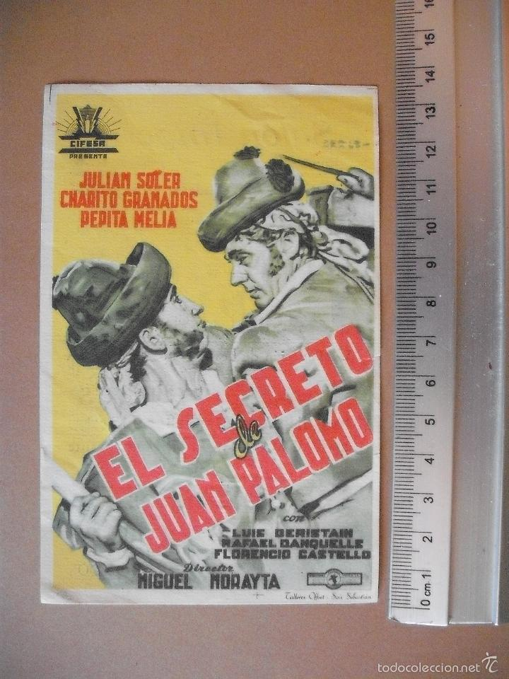 EL SECRETO DE JUAN PALOMO - 1952 (Cine - Folletos de Mano - Comedia)