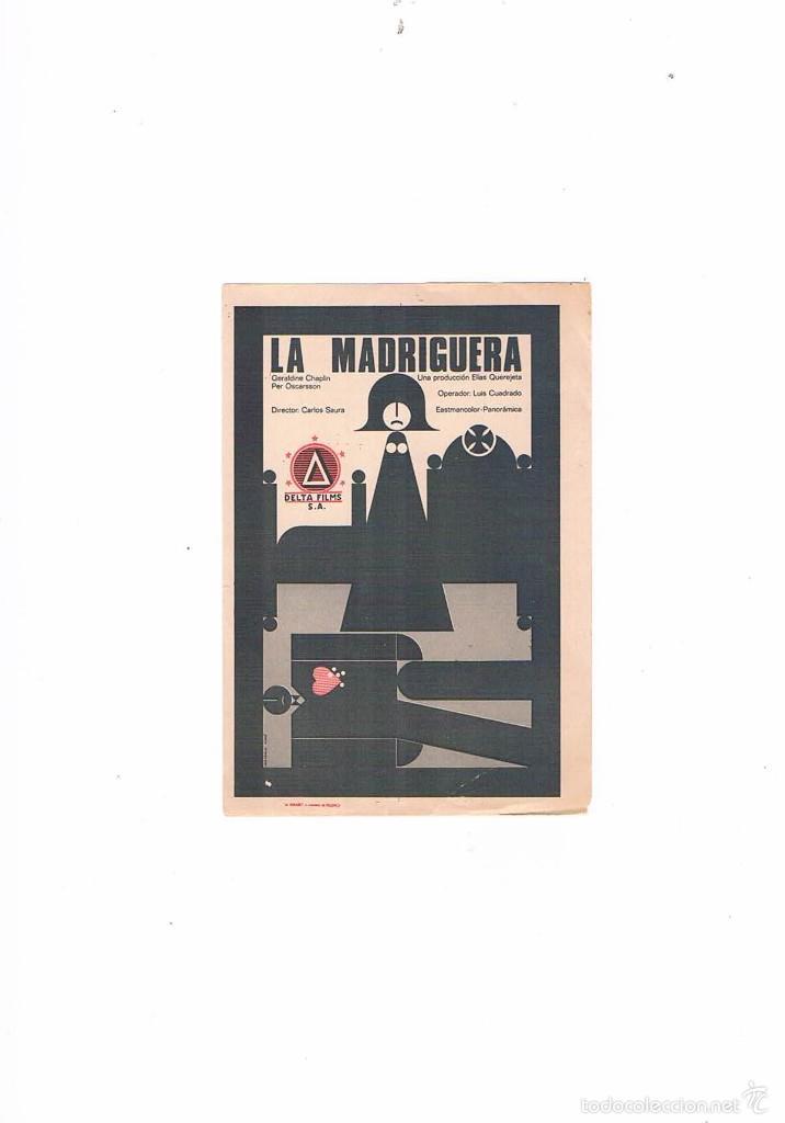 FOLLETO CINE PROGRAMA DE MANO ANTIGUO PELÍCULA LA MADRIGUERA CARLOS SAURA ELÍAS QUEREJETA (Cine - Folletos de Mano - Drama)