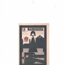 Cine: FOLLETO CINE PROGRAMA DE MANO ANTIGUO PELÍCULA LA MADRIGUERA CARLOS SAURA ELÍAS QUEREJETA. Lote 55399654