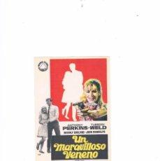 Cine: FOLLETO CINE PROGRAMA DE MANO ANTIGUO PELÍCULA UN MARAVILLOSO VENENO. Lote 55399870