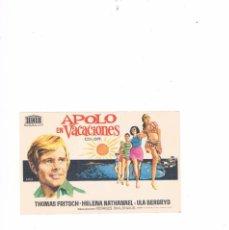 Cine: FOLLETO CINE PROGRAMA DE MANO ANTIGUO PELÍCULA APOLO EN VACACIONES. Lote 55399966
