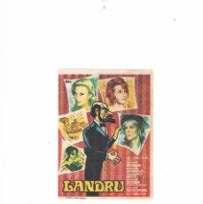Cine: FOLLETO CINE PROGRAMA DE MANO ANTIGUO PELÍCULA LANDRU. Lote 55400729