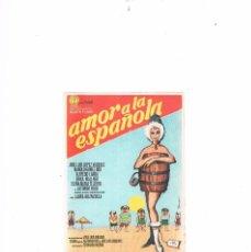 Cine: FOLLETO CINE PROGRAMA DE MANO ANTIGUO AMOR A LA ESPAÑOLA JOSÉ LUIS LÓPEZ VÁZQUEZ ALFREDO LANDA. Lote 55401033