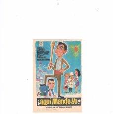 Cine: FOLLETO CINE PROGRAMA DE MANO ANTIGUO AQUÍ MANDO YO MANOLO CODESO GRACITA MORALES. Lote 55401090