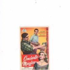 Cine: FOLLETO CINE PROGRAMA DE MANO ANTIGUO CONCIERTO MÁGICO. Lote 55401671