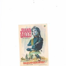 Cine: FOLLETO CINE PROGRAMA DE MANO ANTIGUO JUANA GALLO. Lote 55401876