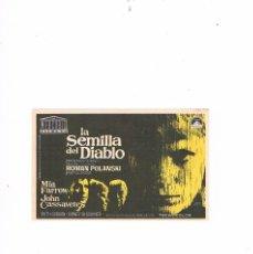 Cine: FOLLETO CINE PROGRAMA DE MANO ANTIGUO LA SEMILLA DEL DIABLO. Lote 55402081