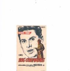 Cine: FOLLETO CINE PROGRAMA DE MANO ANTIGUO PELÍCULA LOS COBARDES. Lote 55402247