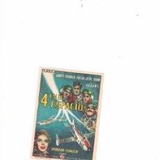 Cine: FOLLETO CINE PROGRAMA DE MANO ANTIGUO PELÍCULA 4 EN EL ESPACIO. Lote 55402308
