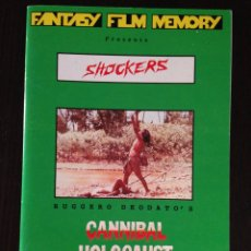 Cine: FANZINE LIBRO / SHOCKERS / HOLOCAUSTO CANIBAL / RUGGERO DEODATO. Lote 55419953