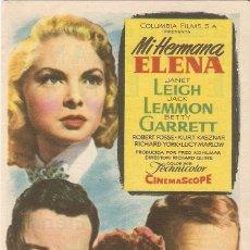 Cine: MÍ HERMANA ELENA - JANET LEIGH, JACK LEMMON, BETTY GARRETT - DIRECTOR RICHARD QUINE - COLUMBIA. Lote 55572894