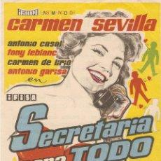 Cine: SECRETARIA PARA TODO - CARMEN SEVILLA, ANTONIO CASAL, TONY LEBLANC, CARMEN DE LIRIO, ANTONIO GARISA. Lote 55686054
