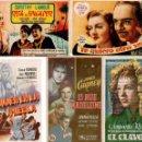 Cine: LOTE 45 PROGRAMAS CINE, ANTIGUOS, ALGUNOS CON SALA EN TRASERA. Lote 149997249