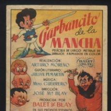 Cine: P-6206- GARBANCITO DE LA MANCHA (CINE IMPERIAL). Lote 55798363