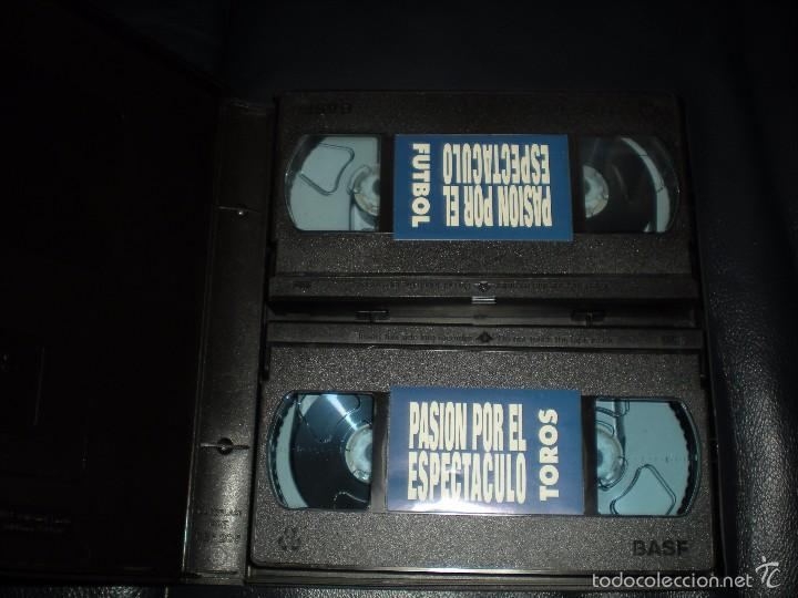 Cine: Dos videos La pasión por el espectáculo, toros y Fútbol. RTVE 1994. Impecables - Foto 2 - 55808933