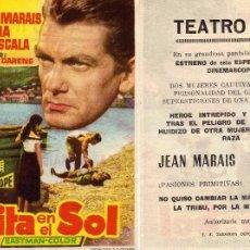 Cine: FOLLETO DE MANO CITA EN EL SOL . TEATRO IRIS ZARAGOZA. Lote 55818375