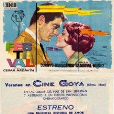 Cine: FOLLETO DE MANO FESTIVAL DE CESAR ARDAVIN. CINE GOYA ZARAGOZA. Lote 205169258