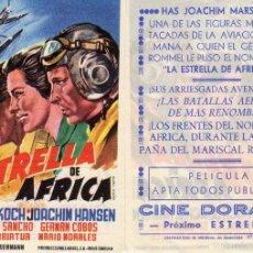 Cine: FOLLETO DE MANO LA ESTRELLA DE AFRICA. CINE DORADO ZARAGOZA. Lote 55858350