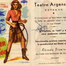 Cine: FOLLETO DE MANO LA MUJER DEL LATIGO. TEATRO ARGENSOLA ZARAGOZA VER ESTADO. Lote 55861266