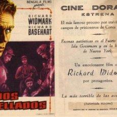 Cine: FOLLETO DE MANO LABIOS SELLADOS. CINE DORADO ZARAGOZA. Lote 129473483