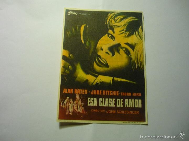PROGRAMA ESA CLASE DE AMOR .- ALAN BATES -PUBLICIDAD (Cine - Folletos de Mano - Drama)