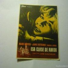 Flyers Publicitaires de films Anciens: PROGRAMA ESA CLASE DE AMOR .- ALAN BATES -PUBLICIDAD. Lote 55864339