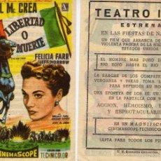 Folhetos de mão de filmes antigos de cinema: FOLLETO DE MANO LIBERTAD O MUERTE. TEATRO IRIS ZARAGOZA. Lote 132566299