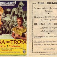 Cine: FOLLETO DE MANO HELENA DE TROYA CINE DORADO ZARAGOZA. Lote 178681676