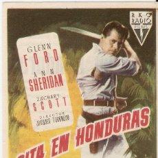 Cine: CITA EN HONDURAS - GLENN FORD, ANN SHERIDAN, ZACHARY SCOTT - DIRECTOR JAQUES TOURNEUR - RKO RADIO. Lote 55897421