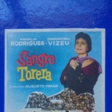 Cine: FOLLETO DE CINE - SANGRE TORERA - SIN PUBLICIDAD. Lote 55928739