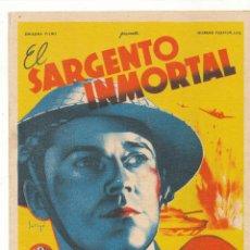 Cine: EL SARGENTO INMORTAL. SOLIGÓ. SENCILLO DE 20TH CENTURY FOX.. Lote 55954530