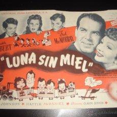 Cine: LUNA SIN MIEL. CLAUDETTE COLBERT, FRED MCMURRAY. CINE ARAMO,OVIEDO.1949. Lote 56018022