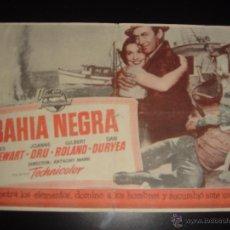 Cine: BAHIA NEGRA. JAMES STEWART, JOANNE DRU. ANTHONY MANN. CAMPOAMOR,OVIEDO.1954. Lote 56018148