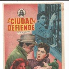 Cine: LA CIUDAD SE DEFIENDE - SENCILLO CIFESA - CON PUBLICIDAD. Lote 56022597