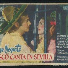 Cine: PROGRAMA JALISCO CANTA EN SEVILLA-JORGE NEGRETE-CARMEN SEVILLA CON PUBLICIDAD. Lote 56035157