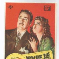 Cine: NOCHE DE PESADILLA - REVERSO EN BLANCO. Lote 56047267