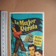 Cine: LA MUJER PIRATA- 1952. Lote 56081541