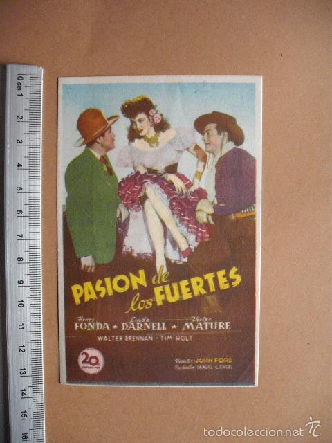 PASION DE LOS FUERTES- 1950 (Cine - Folletos de Mano - Comedia)
