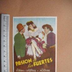 Cine: PASION DE LOS FUERTES- 1950. Lote 56081993