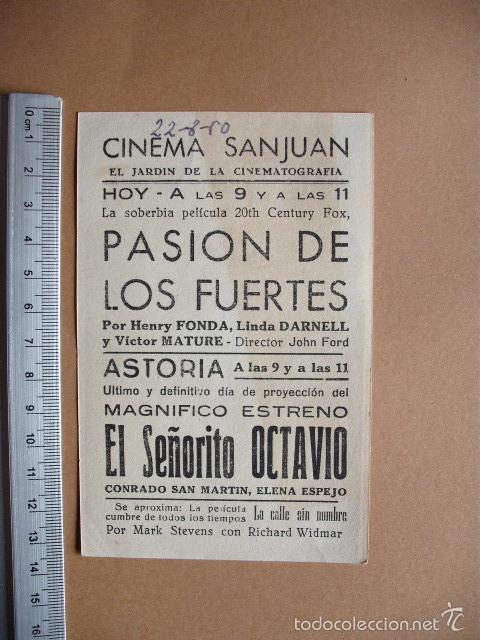Cine: PASION DE LOS FUERTES- 1950 - Foto 2 - 56081993