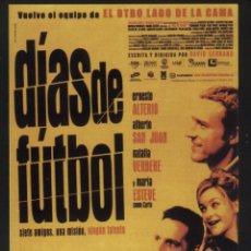 Folhetos de mão de filmes antigos de cinema: P-6236- DIAS DE FUTBOL (TEATRE MUNICIPAL - BENICASSIM) (ERNESTO ALTERIO - ALBERTO SAN JUAN). Lote 56159660