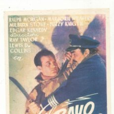 Cine: EL RAYO ATÓMICO. SENCILLO DE UNIVERSAL. TEATRO DE ZORRILLA - VALLADOLID 1947. ¡IMPECABLE!. Lote 56171084