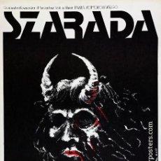 Cine: CARTEL POLACO CINE. SZARADA (1977), DE PAWEL KOMOROWSKI. ILLUSTR. JAKUB EROL. Lote 56188809