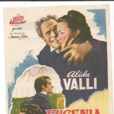 Cine: EUGENIA GRANDET - SENCILLO - CON PUBLICIDAD. Lote 56204135